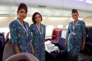 Malaysia Airlines Cabin Crew in A380_5