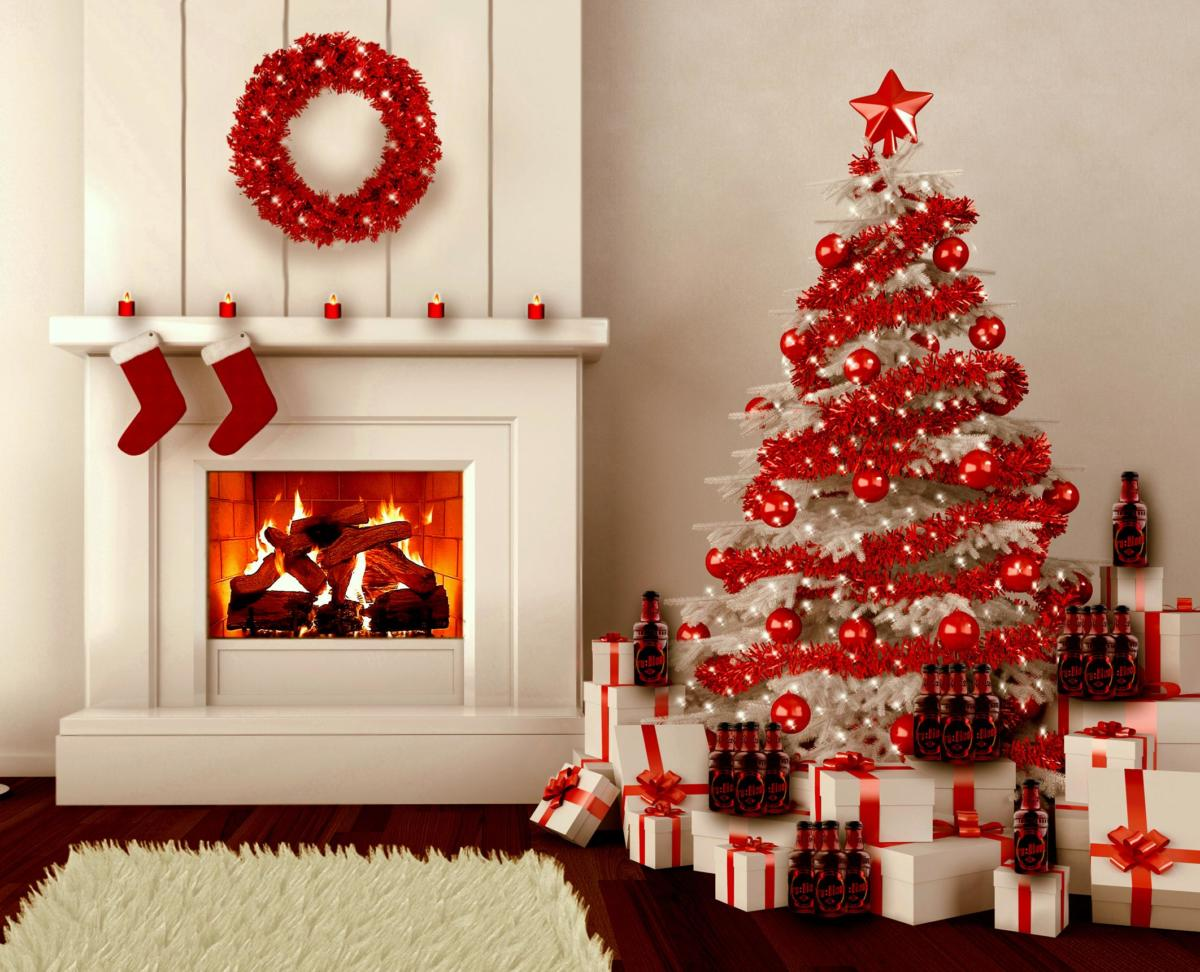 diy-christmas-tree-decorations-ideas-with-red-and-white-color