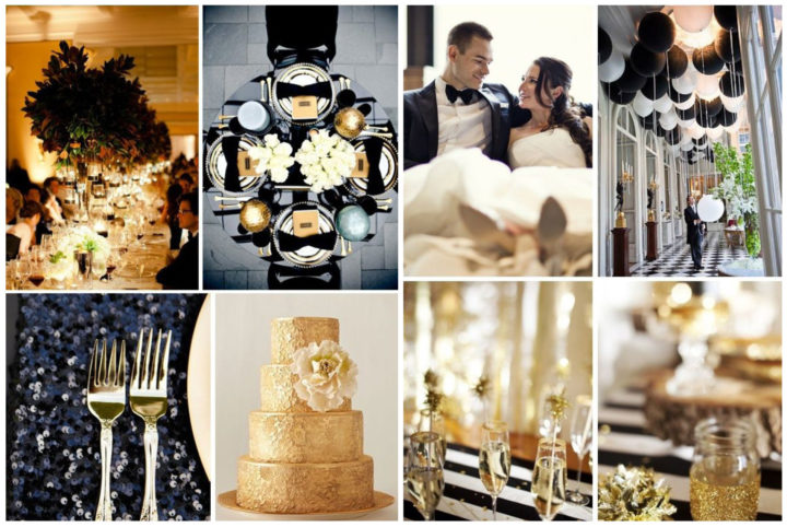 winter-wedding-theme-black-and-gold