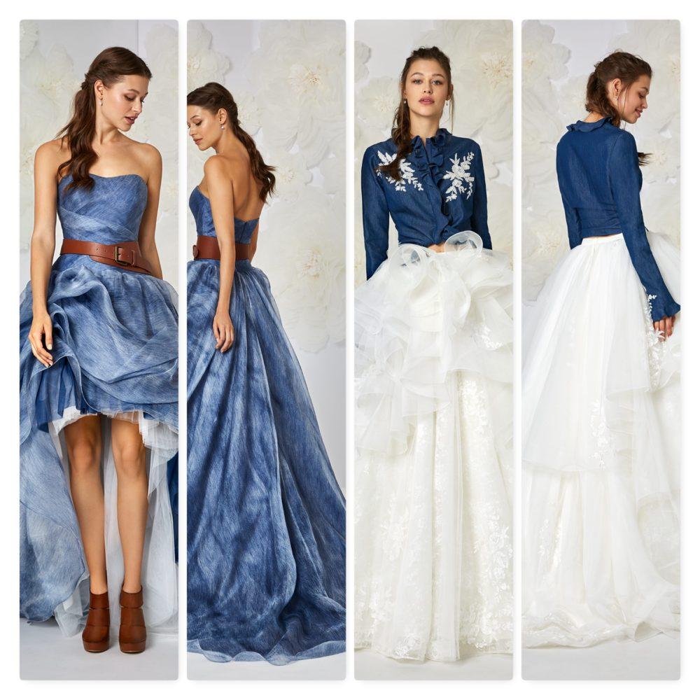 Matrimonio Sposa In Jeans : Collezione abiti da sposa eme milano tratto rosa